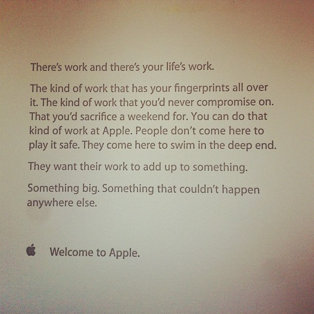 Your LifeS Work  Employee Welcome Letter From Apple