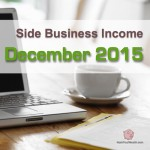 Income Report: December 2015 Side Business Results