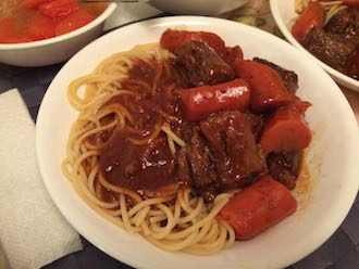 ox tail noodles