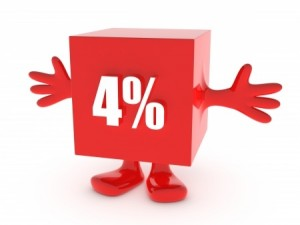 how to add 4 percent