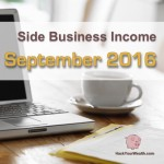 Income Report: September 2016 Side Business Results