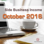 Income Report: October 2016 Side Business Results
