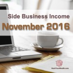 Income Report: November 2016 Side Business Results
