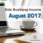 Income Report: August 2017 Side Business Results