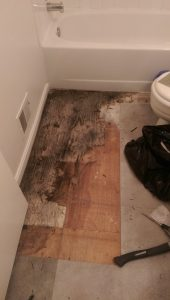 water damage bathroom