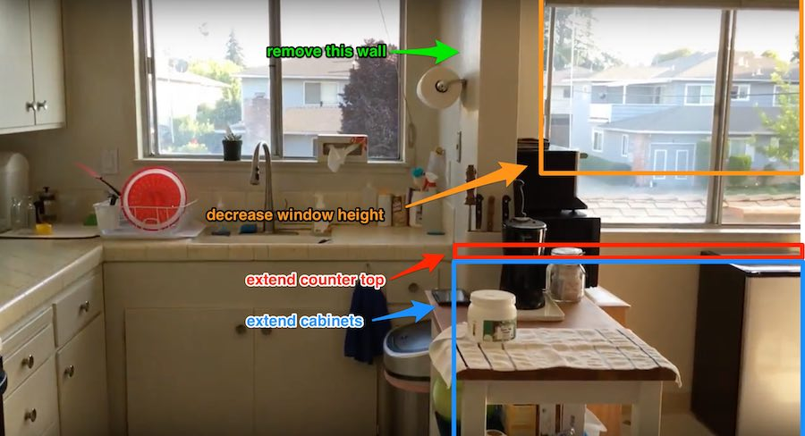 annotated remodeling photo
