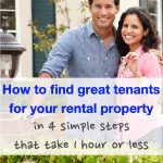 How to find great tenants for your rental property in 4 simple steps that take 1 hour or less