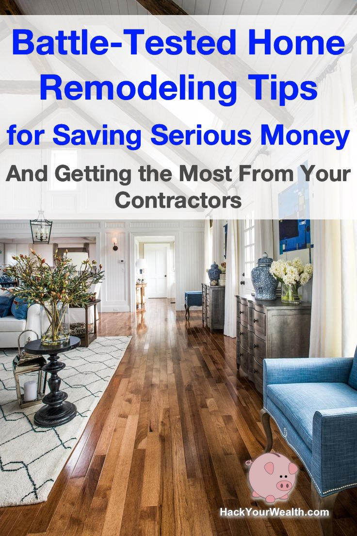 home remodeling tips save money contractors