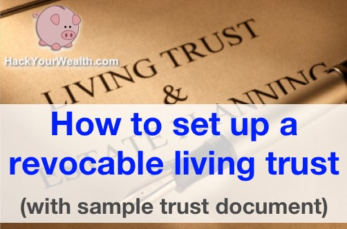 set up revocable living trust
